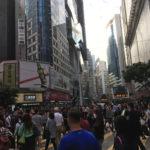 Menschenmassen in Hongkong